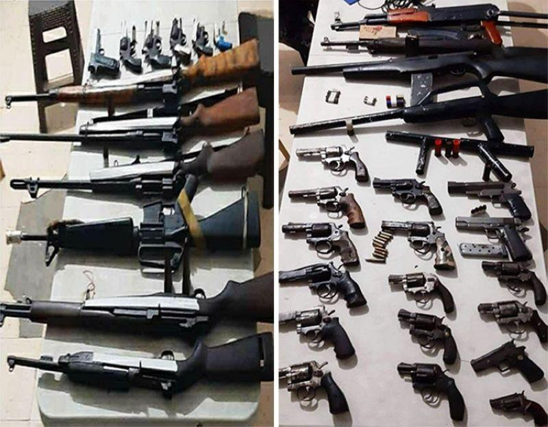 13 persons arrested, high-powered firearms seized
