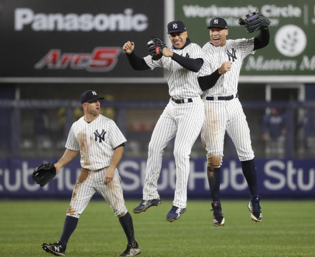 The Yankees are going to win a lot of games thanks to their outfield. (AP Photo)