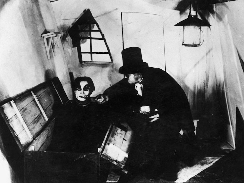 A scene from the German silent film 'The Cabinet Of Dr Caligari', directed by Robert Wiene for Decla-Bioscop (Getty)