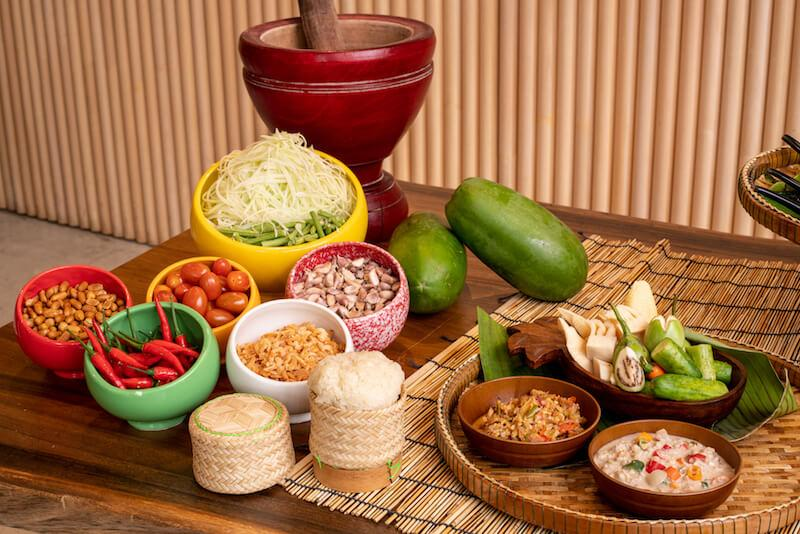 Nam prik and DIY Thai salad bar. Photo: Baan Ying