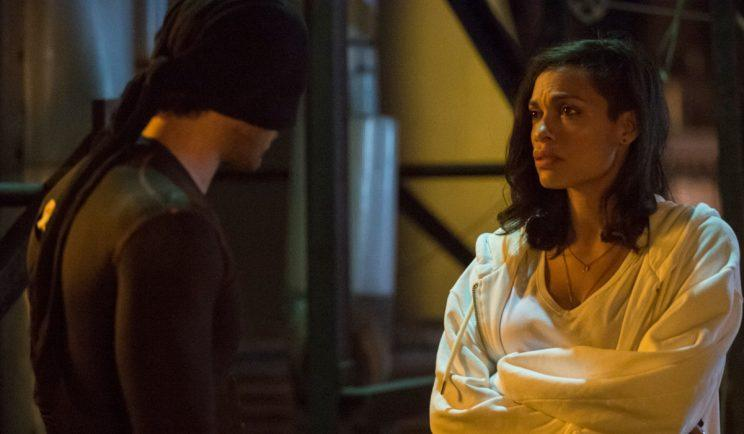 Claire Temple encounters Daredevil - Credit: Netflix