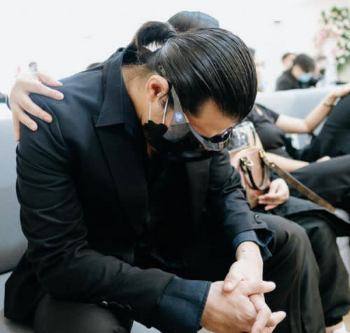 Rodriguez posted a photo of a grieving Padilla and urged everyone to stop the gossips