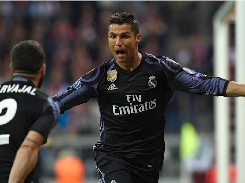Ronaldo's second goal against Bayern was his 100th in European competition: Getty