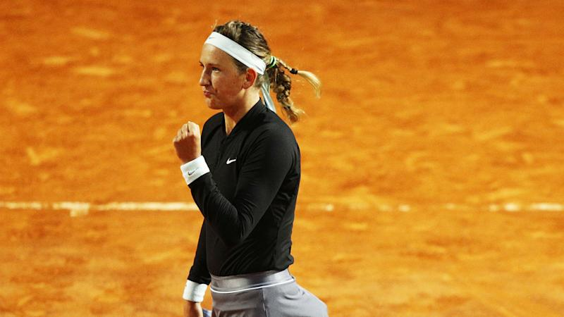 Svitolina stunned by Azarenka after Serena withdraws on dramatic day in Rome