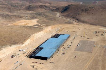 FILE PHOTO: The Tesla Gigafactory is shown under construction outside Reno, Nevada