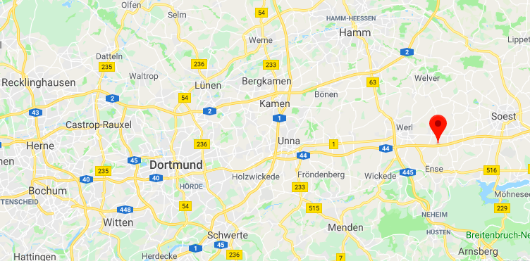 The young boy was driving towards the German city of Dortmund. (GOOGLE)