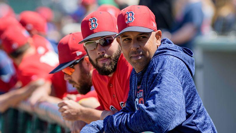 Alex Cora is the Red Sox manager after winning a World Series with the Astros. (AP)