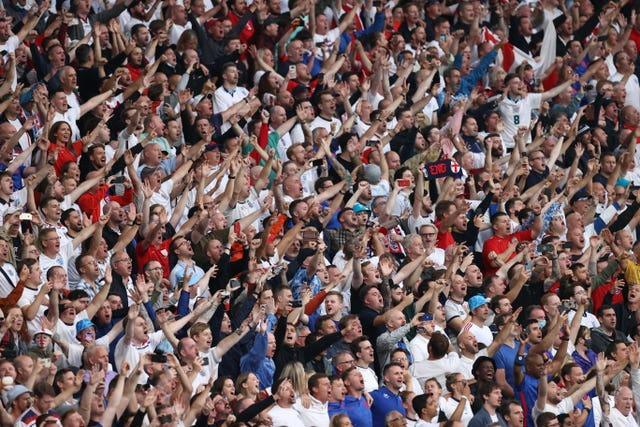 England fans at the Euro 2020 final against Italy
