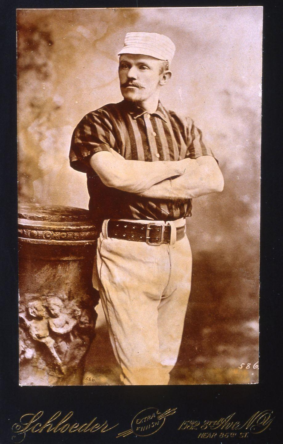"""<p><strong>October 25, 1889</strong>: Giants shortstop John Ward becomes the original Mr. October with his heroics in Game 6 of the 1889 World Series between the New York Giants and Brooklyn Bridegrooms. With two outs in the bottom of the ninth inning, nobody on base, and a full count on Ward, the Giants are about to fall behind 4 to 2 in the series. But Ward singles to right off Adonis Terry, steals second on Terry's first pitch to Roger Connor, and then third on the next pitch. After scoring the tying run, Ward wins the game in the eleventh with a walk-off single. """"Ward singlehandedly snatches victory from the jaws of defeat,"""" says Thorn, """"and I don't think there had ever been anything like it before.""""<br> </p>"""