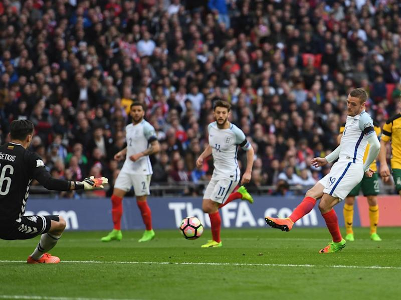 Vardy settled the game shortly after replacing Defoe (Getty)