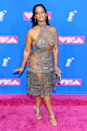 """<p>Dascha Polanco wore this silver lace get-up at the <a href=""""https://www.cosmopolitan.com/uk/fashion/celebrity/g22783834/mtv-video-music-awards-2018-red-carpet-outfits/"""" rel=""""nofollow noopener"""" target=""""_blank"""" data-ylk=""""slk:2018 MTV Video Music Awards"""" class=""""link rapid-noclick-resp"""">2018 MTV Video Music Awards</a>.</p>"""