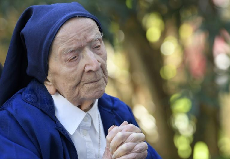 French nun Sister Andre, who turns 117 on February 11, 2020 after surviving Covid-19, says she enjoys a daily glass of wine
