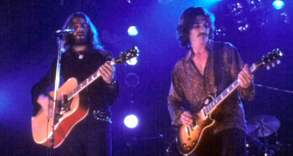 """<a href=""""http://movies.yahoo.com/movie/1800552752/info"""">ALMOST FAMOUS</a> (2000)  Actor: Billy Crudup  Character: Russell Hammond   Note: None other than Peter Frampton taught Billy Crudup how to play the guitar for the movie. The four actors in Stillwater, including Crudup, had band practice for four hours a day, five days a week for six weeks prior to production."""