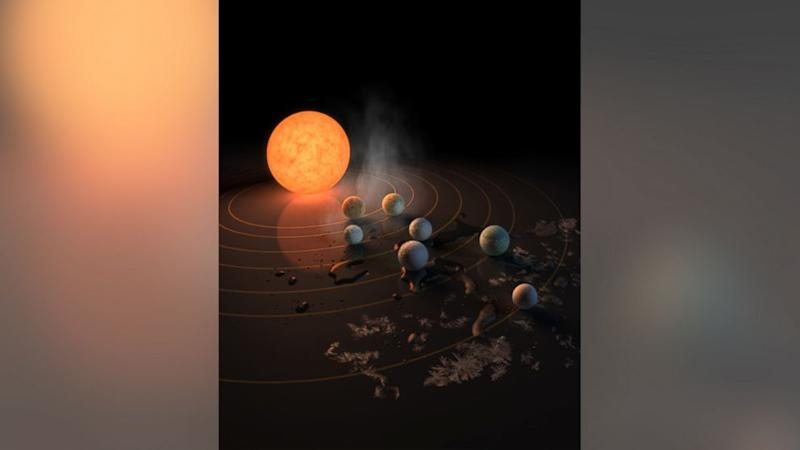 Astronomers discover 7 potentially habitable exoplanets orbiting nearby dwarf star (ABC News)