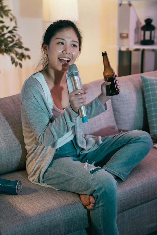 """<p>Since you won't be visiting any karaoke bars for the foreseeable future, download Smule instead. This interactive app lets you sing live karaoke with friends around the world, complete with audio effects and visual features. </p><p><a class=""""body-btn-link"""" href=""""https://apps.apple.com/us/app/smule-the-social-singing-app/id509993510"""" target=""""_blank"""">GET THE APP</a></p>"""