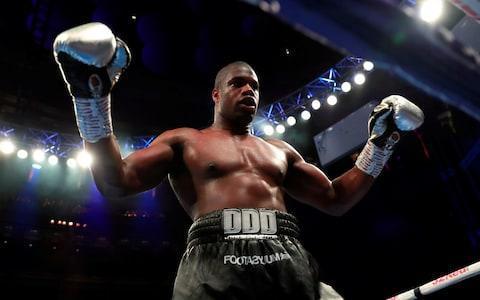 <span>Daniel Dubois makes it a ninth knockout on a night to savour at the Royal Albert Hall</span> <span>Credit: Action Images/Andrew Couldridge </span>