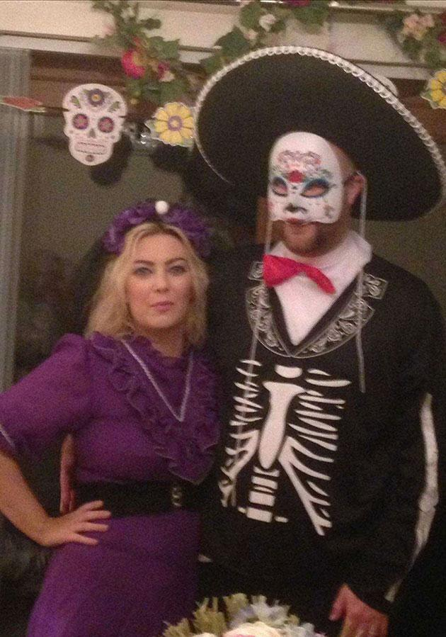 Laura and her family had been celebrating the Day of the Dead. Photo: Caters