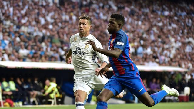 The Portuguese attacker went to ground inside Barca's 18-yard box in the first few minutes and there was no agreement over whether he'd dived