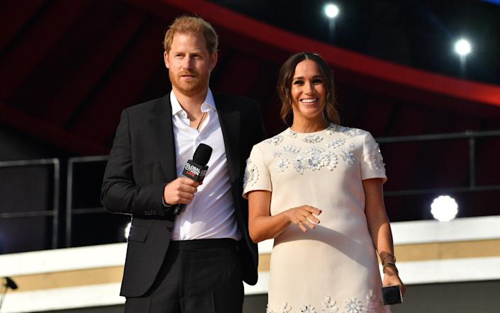 The Duke and Duchess of Sussex appear at Global Citizen Live in New York's Central Park on Saturday - Photo by NDZ/Star Max/GC Images