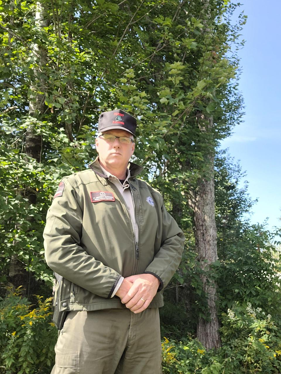 Jeff Currier is a regional forest ranger for the Maine Forest Service. He sees several conflating factors – like climate change and degradation of volunteer fire departments – as concerns for Maine's wildfire risk.