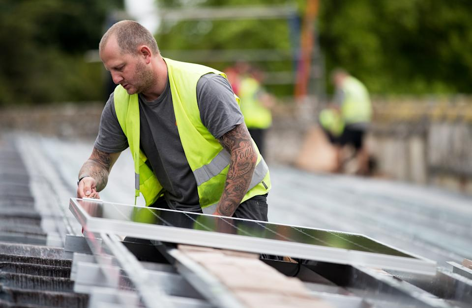 Solar panelling can massively increase the value of your home. (Andrew Matthews/PA Wire/PA Images)