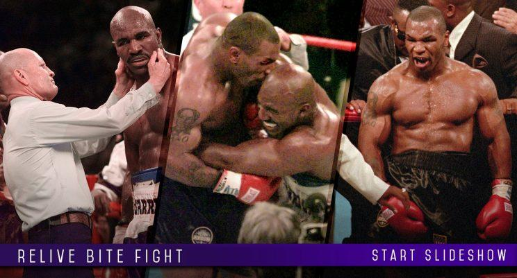 Click here for photos of the infamous Mike Tyson-Evander Holyfield 'bite fight.'