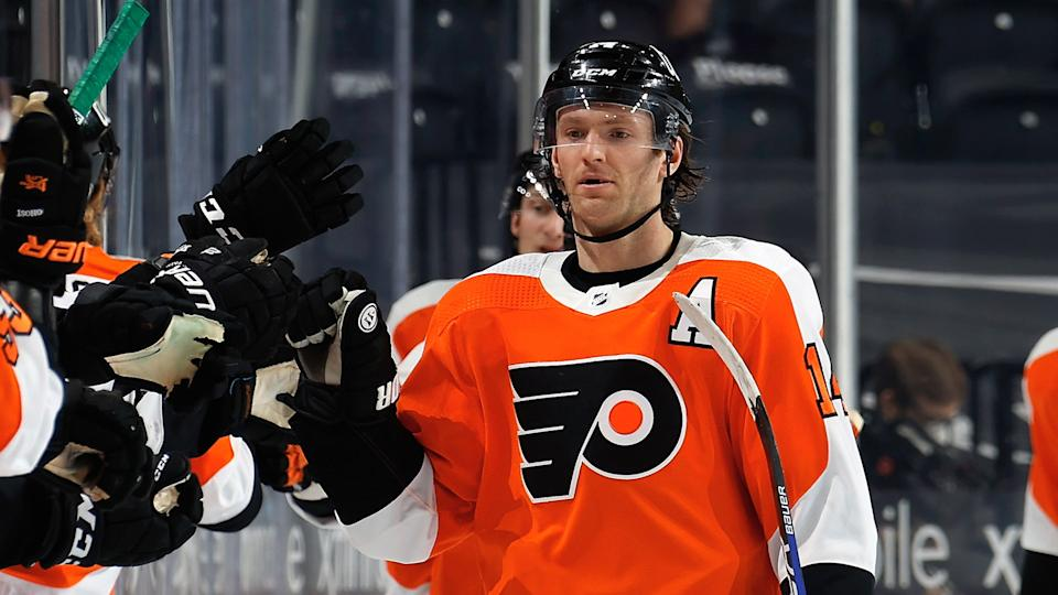 Sean Couturier is sticking around for the long haul in Philadelphia.  (Photo by Len Redkoles/NHLI via Getty Images)