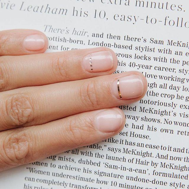 """<p>We love a simplistic manicure design by choosing just two accent nails. This would make for a beautiful <a href=""""https://www.cosmopolitan.com/uk/beauty-hair/nails/g28129300/wedding-nails/"""" rel=""""nofollow noopener"""" target=""""_blank"""" data-ylk=""""slk:wedding design"""" class=""""link rapid-noclick-resp"""">wedding design</a>.</p><p><a href=""""https://www.instagram.com/p/Bmcslnvg4T4/"""" rel=""""nofollow noopener"""" target=""""_blank"""" data-ylk=""""slk:See the original post on Instagram"""" class=""""link rapid-noclick-resp"""">See the original post on Instagram</a></p>"""