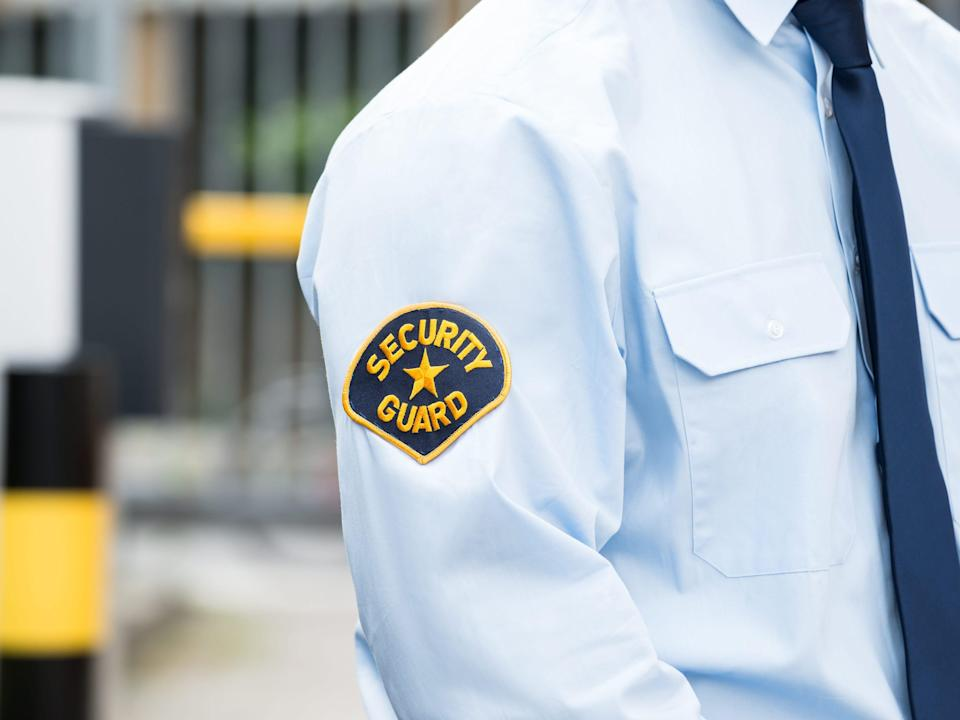 Stock photo of a security guard