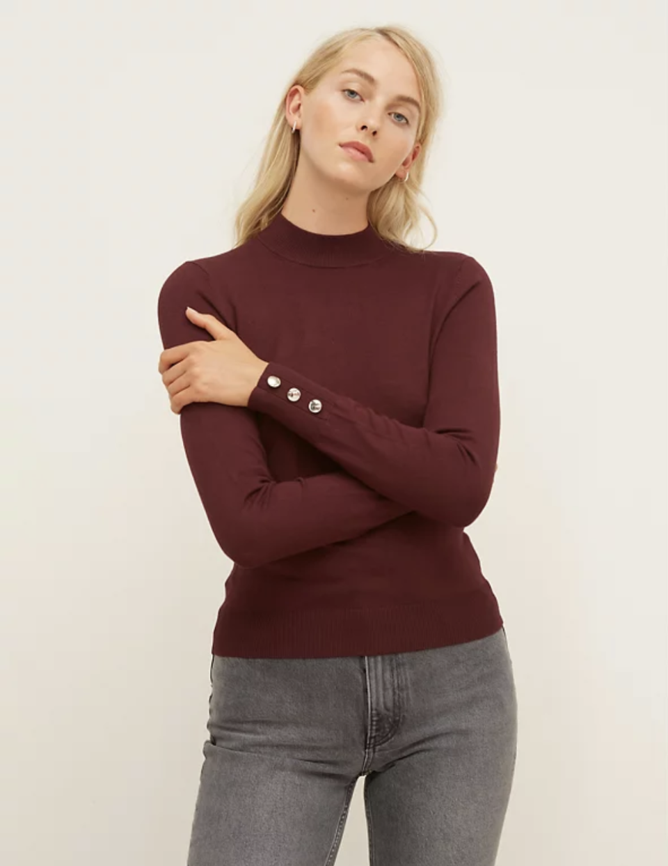 Funnel Neck Button Detail Jumper (Nobody's Child/ M&S)