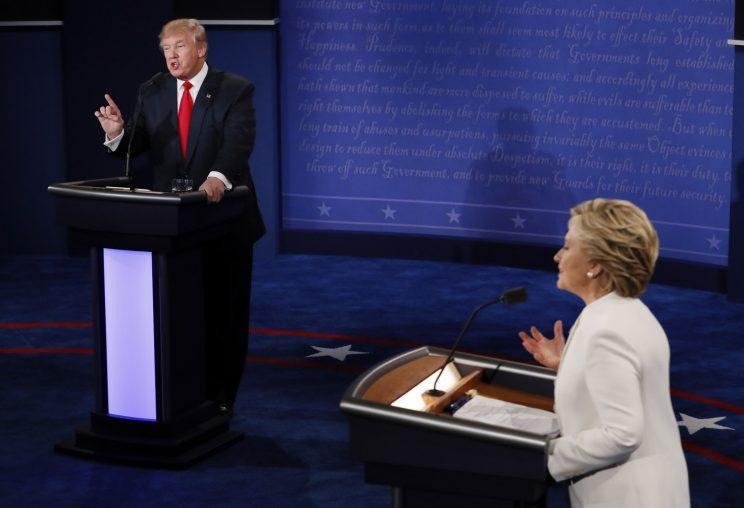 """On Oct. 19, the third and final presidential debate between Donald Trump and Hillary Clinton included Trump calling Clinton a """"nasty woman."""" (Photo: AP Images)"""