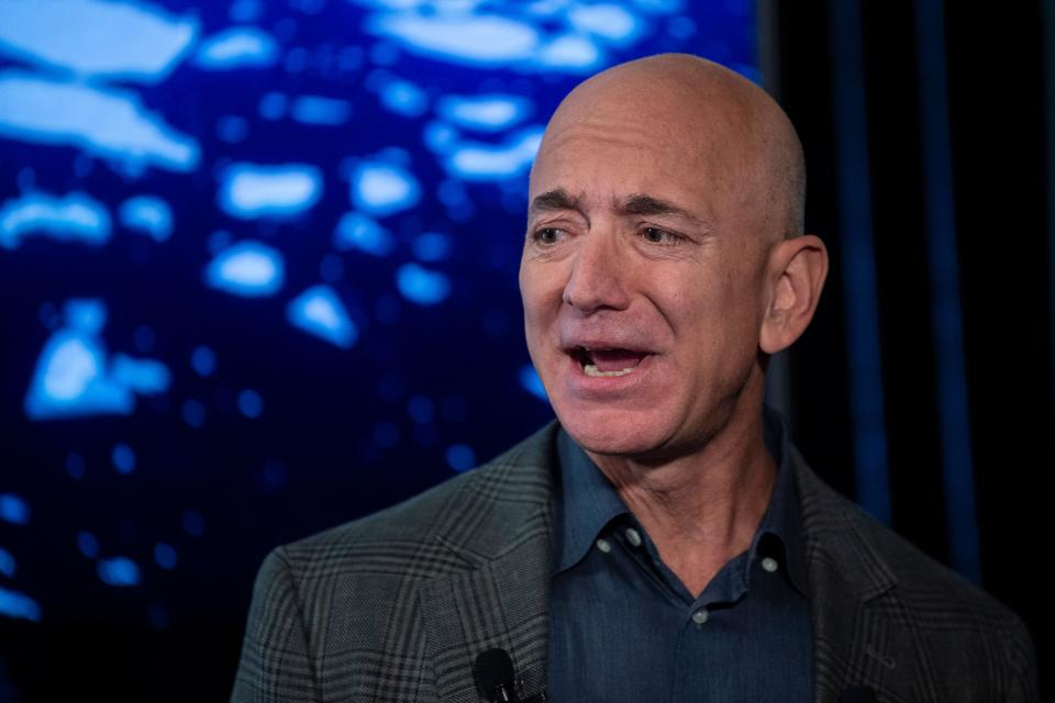 Jeff Bezos é fundador e CEO da Amazon. Foto: ERIC BARADAT/AFP via Getty Images