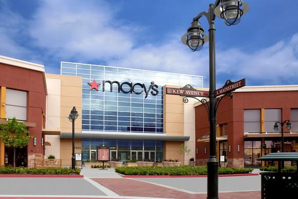 A rendering of the exterior of a Macy's store