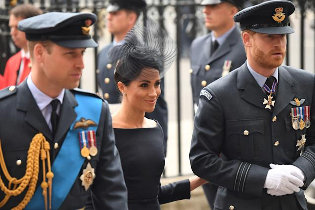 Meghan Markle wore yet another dress with a bateau neckline. (Photo: CHRIS J RATCLIFFE/AFP/Getty Images)