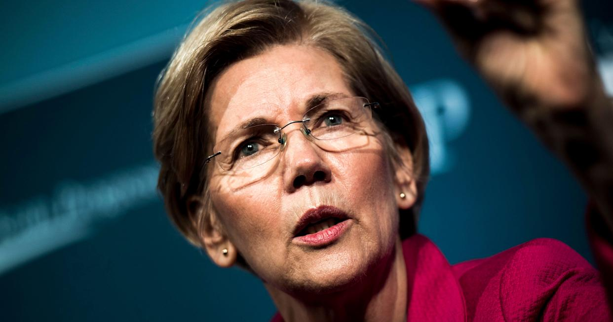 Elizabeth Warren (D-Mass.) is one of the senators calling on the Justice Department inspector general to investigate Attorney General Jeff Sessions. (Photo: Melina Mara/The Washington Post via Getty Images)