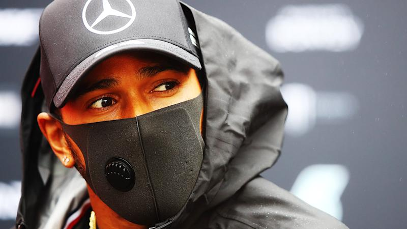 Lewis Hamilton's bid to match Michael Shchumacher's Formula One win record could be derailed after a coase of the coronavirus was detected in the Mercedes team prior to the Eifel GP at the Nurburgring. (Photo by Mark Thompson/Getty Images)