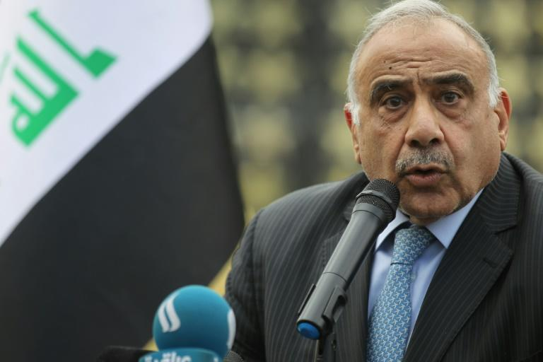 "Ira Prime Minister Adel Abdel Mahdi said he recieved an ""official letter"" from the United States signalling US intentions to withdraw from the country (AFP Photo/AHMAD AL-RUBAYE)"
