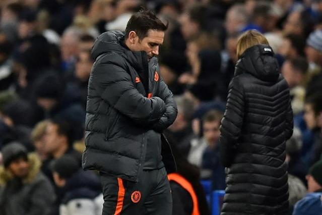 """Sobering: Chelsea manager Frank Lampard admitted his side had been """"outclassed"""" by Bayern Munich (AFP Photo/Glyn KIRK )"""