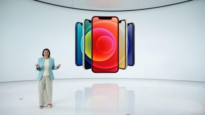 Apple's vice president of iPhone Product Marketing Kaiann Drance unveils the all-new iPhone 12 in Cupertino