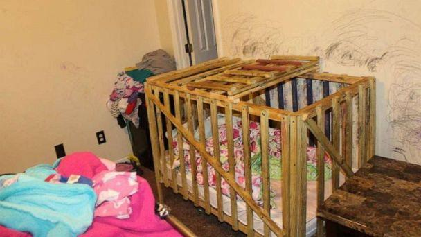 PHOTO: Investigators in Smiths Station, Alabama, conducted an investigation on Jan. 15, 2020 at a family home and discovered two wood constructed cages that had hasps and locks present. (Lee County Sheriff's Office)