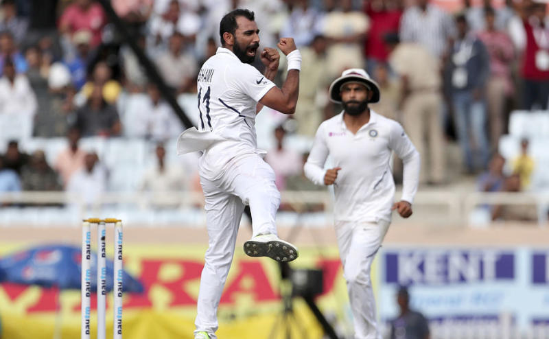 Mohammed Shami added two more wickets on Day three of the third Test between India and South Africa in Ranchi on Monday. Shami, who had already removed Zubayr Hamza, registered figures of 3-10 as India edged closer to a clean sweep with just two wickets to be taken. AP