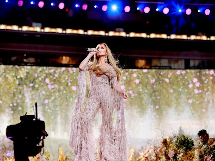 Jennifer Lopez performs onstage during Global Citizen VAX LIVE: The Concert To Reunite The World (Getty Images for Global Citizen)