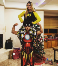 """<p>Taylor Lautner flexed his muscles (literally) while posing in his superhero jammies with his younger sister, Makena: """"Merry Christmas Eve from Iron Man and Batgirl!"""" (Photo: <a rel=""""nofollow noopener"""" href=""""https://www.instagram.com/p/BObbpBYgdtk/"""" target=""""_blank"""" data-ylk=""""slk:Instagram"""" class=""""link rapid-noclick-resp"""">Instagram</a> </p>"""
