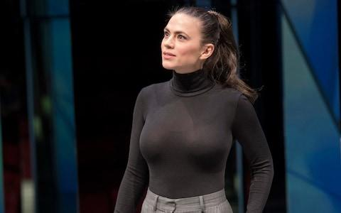 Hayley Atwell in Dry Powder at the Hampstead Theatre - Credit: Alastair Muir