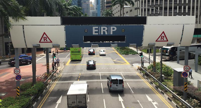 An ERP Gantry in Tanjong Pagar in Singapore. (Yahoo News Singapore file photo)