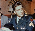 """<p>At the height of his career, Presley was drafted into the military and served two years in the Korean War. When news that The King was drafted spread, fans were outraged, but he insisted on serving his country. He received deferment so that he could complete production on <em>King Creole</em> and <a href=""""https://www.history.com/this-day-in-history/elvis-presley-is-drafted"""" rel=""""nofollow noopener"""" target=""""_blank"""" data-ylk=""""slk:entered the army as a private"""" class=""""link rapid-noclick-resp"""">entered the army as a private</a> in 1958.</p>"""