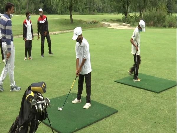 A still from the camp at the Kashmir Golf Course. (Photos/ANI)