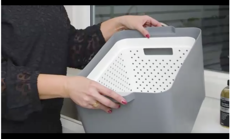This $7 white tub means your hands stay dry during the soaking process. Photo: Kmart.