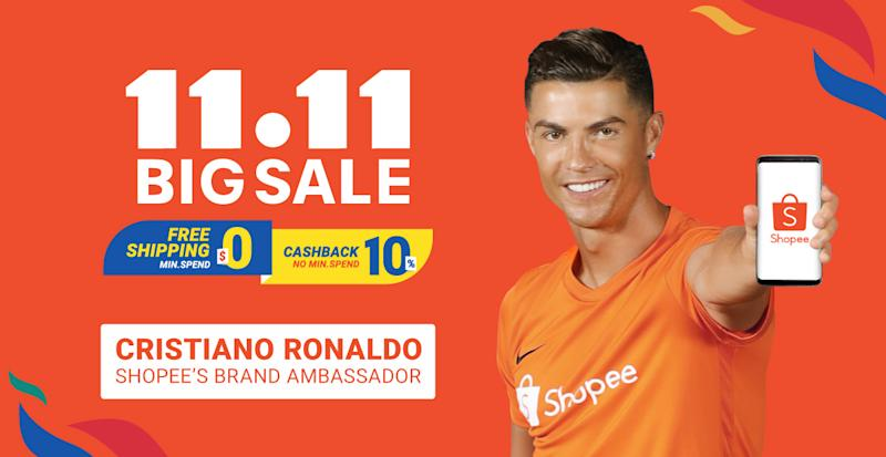 Cristiano Ronaldo for Shopee's 11.11 Big Sale. (PHOTO: Shopee)