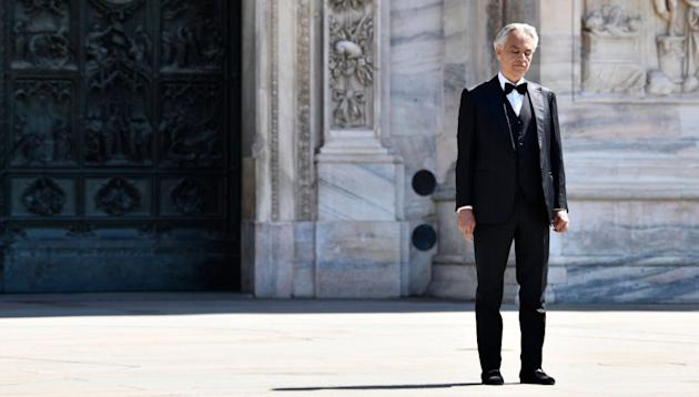 Andrea Bocelli's lone Easter Sunday concert scores YouTube record